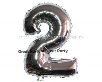 16 inch Number 2 (Silver)