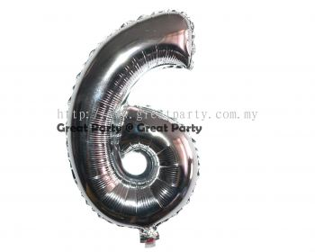 16 inch Number 6 (Silver)