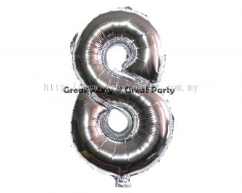 16 inch Number 8 (Silver)