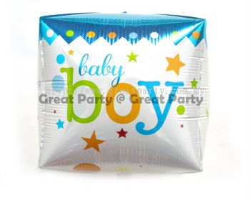 Baby Boy Box Shape Foil Balloon