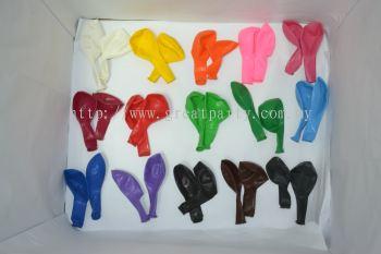 10 inches Balloons Mix colours (50 pcs)