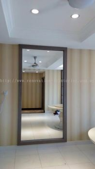 6mm mirror & wood frame(project in Setia Walk Puchong R3)
