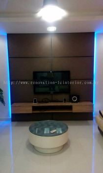 TV Console c/w Hanging TV Cabinet