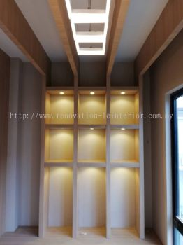 Display cabinet with LED