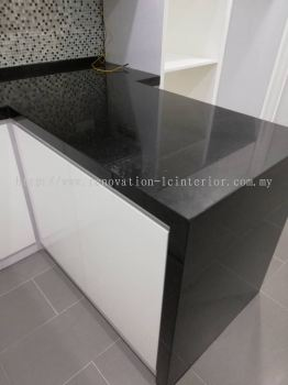 Table top with granite