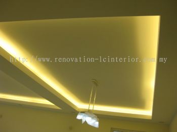 PUCHONG CONDO LIGHT BOX PLASTER CEILING