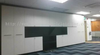 OFFICE BUILT IN CABINET C/W DOOR PANEL