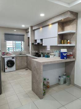 Solid Plywood MIX 4G Kitchen Cabinet #RIMBUN ARA