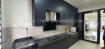 Solid Plywood Laminated Kitchen Cabinet #IRINGAN BAYU