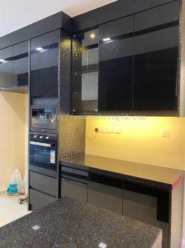 5G Glass Door Kitchen Cabinet #ARA SENDAYAN