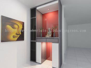 Johor Altar 3d Design Altar Cabinet Design From Green