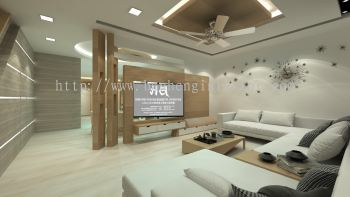 Living Area & TV Cabinet Design