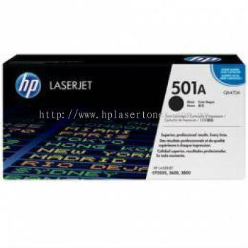 HP 501A BLACK LASERJET TONER CARTRIDGE (Q6470A)