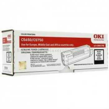 OKI C5650 C5750 BLACK TONER CARTRIDGE (43865712)