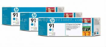 HP 91 ORIGINAL CYAN 3 CARTRIDGES MULTIPACK (C9483A) COMPATIBLE TO HP PRINTER Z6100