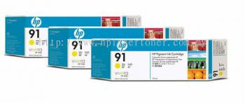 HP 91 ORIGINAL YELLOW 3 CARTRIDGES MULTIPACK (C9485A) COMPATIBLE TO HP PRINTER Z6100