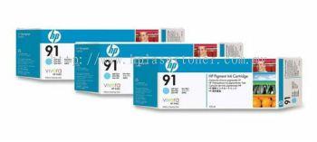 HP 91 ORIGINAL LIGHT CYAN 3 CARTRIDGES MULTIPACK (C9486A) COMPATIBLE TO HP PRINTER Z6100