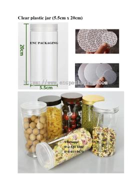 Clear jar 428ml(5.5cm x 20cm)