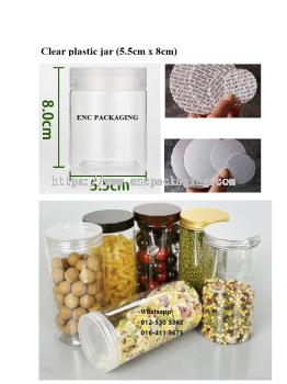 Clear jar 155ml(5.5cm x 8cm)