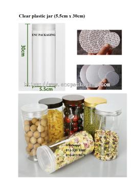 Clear  jar 655ml(5.5cm x 30cm)