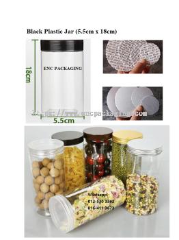 Black jar 380ml(5.5cm x 18cm)