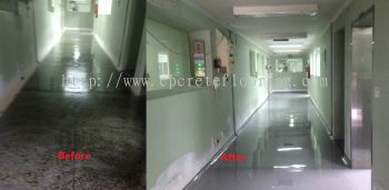PU Flooring Before and After Comparison