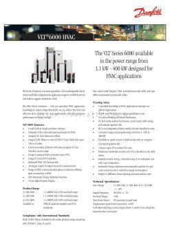 Danfoss VLT HVAC Drive VLT 6000