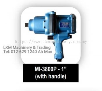 Toku 1' Impact Wrench with Handle, Bolt Size 38mm, Short Shank/Long Shank, MI-3800P/GS/PL/GL