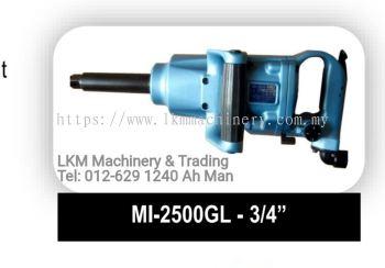 "Toku 3/4"" Impact Wrench, Bolt Size 25mm, Short Shank/Long Shank, MI-2500P/GS/PL/GL"