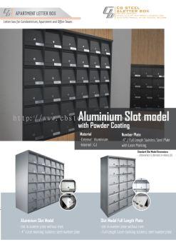 Aluminium Slot Model Letter Box / MailBox / Peti Surat - CB Steel & Letter Box Sdn Bhd