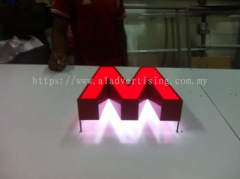 Led box up front and backlit