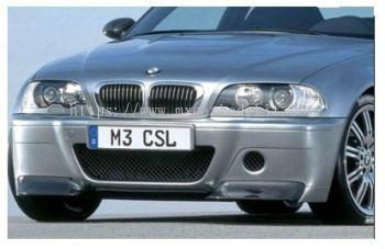 BMW 3 SERIES E46 1998-2004 2D M3 CSL STYLE FRONT BUMPER W/CARBON SPLITTER (PP)