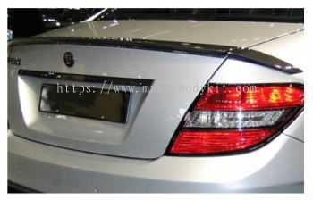 MERCEDES BENZ C-CLASS W204 2007 & ABOVE REAR TRUNK SPOILER