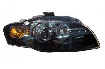 AUDI A4 (B7) 2005-2008 HEAD LAMP CRYSTAL PROJECTOR W/RIM