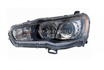 MITSUBISHI LANCER 2008 & ABOVE HEAD LAMP PROJECTOR BLACK W/RIM + DRL