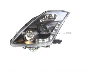 NISSAN FAIRLADY 2003-2008 HEAD LAMP CRYSTAL PROJECTOR BLACK W/DRL
