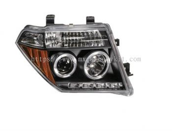 NISSAN NAVARA 2007 & ABOVE HEAD LAMP CRYSTAL PROJECTOR W/RIM + LED