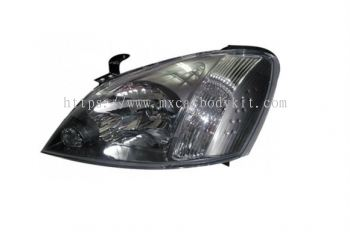 NISSAN SENTRA 2005 HEAD LAMP CRYSTAL BLACK