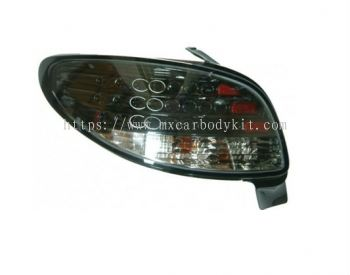 PEUGEOT P206 1998-2005 REAR LAMP CRYSTAL LED BLACK