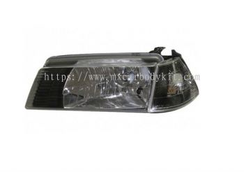 PROTON ISWARA 1992-2007 HEAD LAMP CRYSTAL BLACK + CORNER LAMP