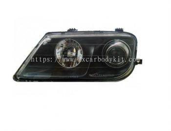 PROTON WAJA 2000 & ABOVE HEAD LAMP CRYSTAL GLASS LENS BLACK