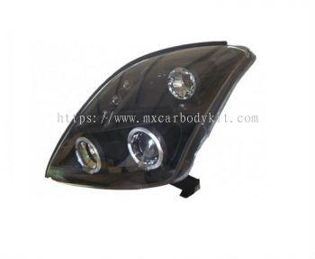 SUZUKI SWIFT 2005 & ABOVE HEAD LAMP BLACK PROJECTOR W/RIM + LED
