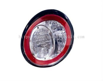 VOLKSWAGEN BEETLE 1998 & ABOVE REAR LAMP CRYSTAL LED CLEAR