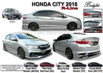 HONDA CITY 2017 R LINE BODYKIT WITH SPOILER