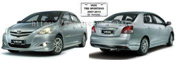 TOYOTA VIOS 2007-2012 TRD SPORTIVO BODYKIT + SPOILER