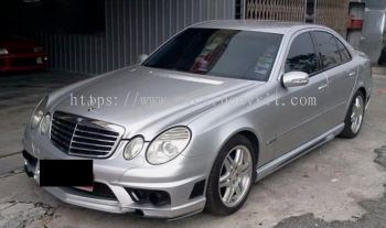 MERCEDES BENZ W211 BLACK BISON STYLE FULL SET BODYKIT + SPOILER