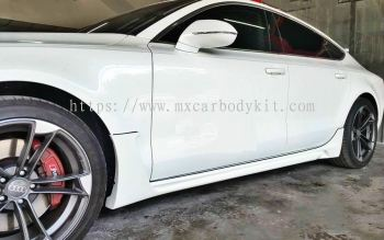 AUDI A7 TYPE 4G BLACK BISON STYLE DESIGN SIDE SKIRT