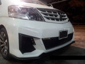 TOYOTA ALPHARD 2005 J-EMOTION DESIGN FRONT BUMPER LIPS