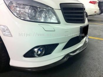 MERCEDES BENZ W204 2007 FRONT LIP FOR AMG BUMPER CARBON FIBER
