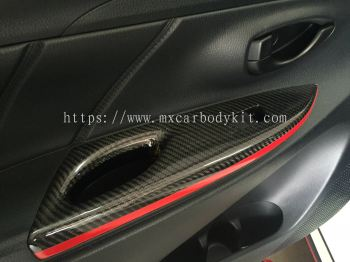 TOYOTA VIOS 2013 CARBON FIBRE DOOR HANDLE COVER